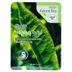 Маска для лица 3W Clinic Fresh тканевая с зеленым чаем 23мл