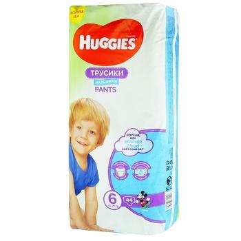 Трусики-підгузки Huggies Pants 6 Mega 15-25 кг для хлопчиків 44 шт