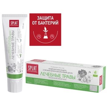 Splat Professional Medical Herbs Against Bacteria And Caries Protection Toothpaste 100ml - buy, prices for EKO Market - photo 4