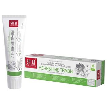 Зубная паста Splat Professional Medical Herbs защита от бактерий и кариеса 100мл - купить, цены на Ашан - фото 2