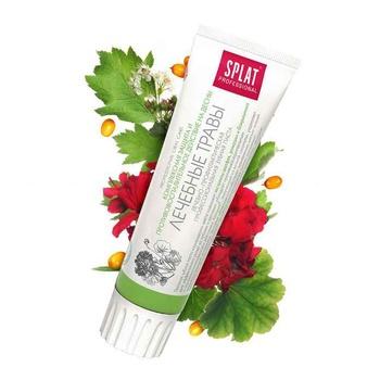 Зубная паста Splat Professional Medical Herbs защита от бактерий и кариеса 100мл - купить, цены на Метро - фото 5