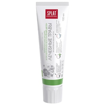 Зубная паста Splat Professional Medical Herbs защита от бактерий и кариеса 100мл - купить, цены на Ашан - фото 4
