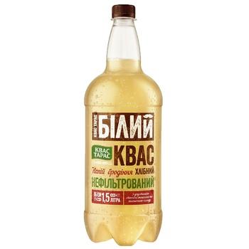 Kvas Taras White Kvas Unfiltered Pasteurized Highly Carbonated Bread Fermented Drink 1,5l
