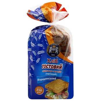Хліб Кулиничі Бородинський тостовий 350г - купить, цены на Ашан - фото 1