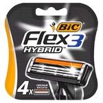 BIC Flex Hybrid 3 Replaceble Shaving Cartriges 4pcs