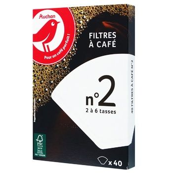 Auchan Filter For Coffee 40pcs