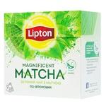 Чай Lipton Magnificent Matcha зелений з екстрактом матча 25шт х 1,8г