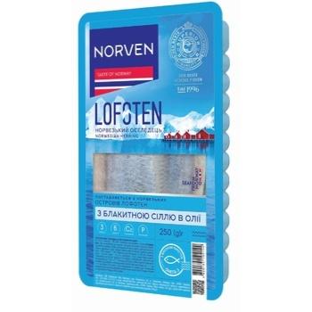 Norven Lofoten with Blue Salt Herring Fillet in Oil 250g - buy, prices for CityMarket - photo 1