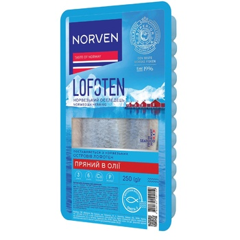 Norven in Oil with Spices Herring Fillet 250g