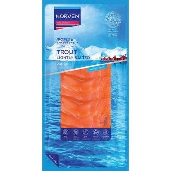 Norven light-salted sliced trout 230g