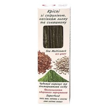 Криспи Golden Kings of Ukraine со спирулиной семенами льна и подсолнуха 140г - купить, цены на Восторг - фото 1