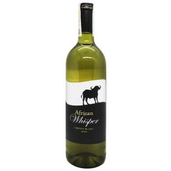 Вино African Whisper Шенин Блан сухое белое 0,75л