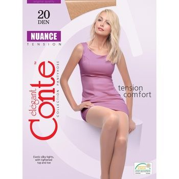 Conte Nuance 20 Den Natural Tights for Women Size 3 - buy, prices for CityMarket - photo 1
