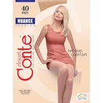 Nuance Conte 40 Den Natural Tights for Women Size 2