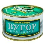 Угорь Рыбацкая Артель копченый в масле 230г - купить, цены на ЕКО Маркет - фото 1