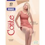 Nuance Conte 40 Den Nero Tights for Women Size 3