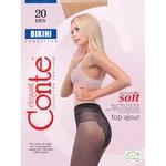 Колготи жіночі Conte Elegant Bikini Nero 20 Den розмір 3