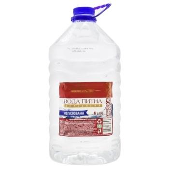 Вода питьевая Українська Зірка негазированная обработанная 6л