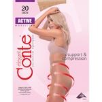 Колготи жіночі Conte Active 20ден р.4 Bronz