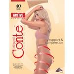 Conte Active 40 den Women's Natural Tights Size 2