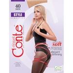 Conte Style Female Black Tights 40 Den Size 3