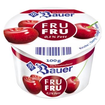 Йогурт Bauer Fru Fru Вишня 0,1% 100г
