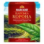 Чай черный Майский Царская Корона в пакетиках 100шт*2г - купить, цены на Ашан - фото 1