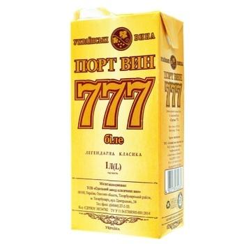 Вино белое Крымские Вина Портвейн 777 Белый ординарное крепкое 17.5% тетрапакет 1000мл Украина - купить, цены на Ашан - фото 8