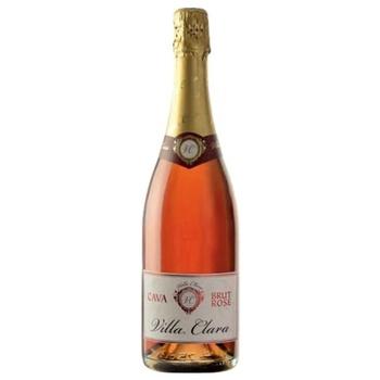 Вино игристое Villa Clara Cava Brut Rose 11.5% 0,75л
