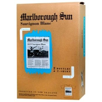 Saint Clair Marlborough Sun Sauvignon Blanc белое сухое12,5% 2шт 0,75л + футболка