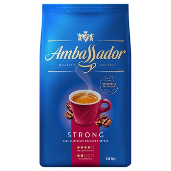 Ambassador Strong Coffee Beans 1kg - buy, prices for Auchan - photo 1