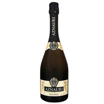 Вино ігристе Aznauri біле напівсолодке 13% 0,75л - купити, ціни на ЕКО Маркет - фото 1