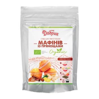 Смесь Добрик для приготовления маффинов с пряностями органическая 250г - купить, цены на Ашан - фото 1