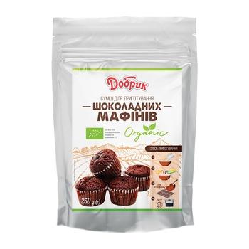 Смесь Добрик для приготовления шоколадных маффинов органическая 250г