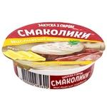 Закуска з сиром Тульчинка Смаколики Мисливські ковбаски 55% 90г