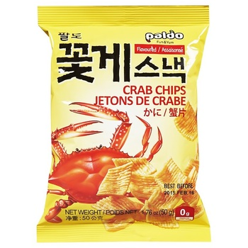 Paldo Chips with Crab Flavor 50g