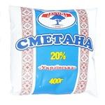 Сметана Кілія Українська 20% 400г - купить, цены на Ашан - фото 1