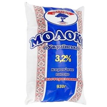 Молоко Кілія Українське пастеризоване 3,2% 930г - купить, цены на Ашан - фото 1