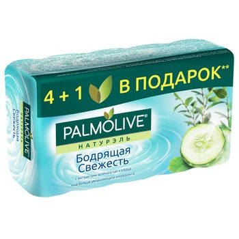 Palmolive Naturals Invigorating Freshness With Green Tea Extract And Cucumber 4+1 Soap 5pcs 70g