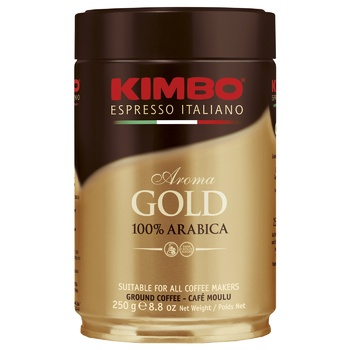 Кава Kimbo Aroma Gold 100% Arabica мелена з/б 250г - купити, ціни на ЕКО Маркет - фото 1