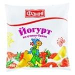 Fanni Strawberry-Banana Flavored Yogurt 1% 400g