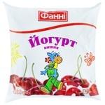 Fanni Cherry Flavored Yogurt 1% 400g