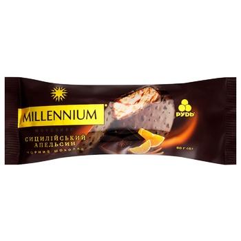 Мороженое Рудь Millennium черный шоколад-сицилийский апельсин эскимо 80г