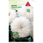 Семена Агроконтракт Астра Дюшес белая 0,1г - купить, цены на ЕКО Маркет - фото 1