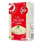 Рис Auchan довгозернистий оброблений паром 500г