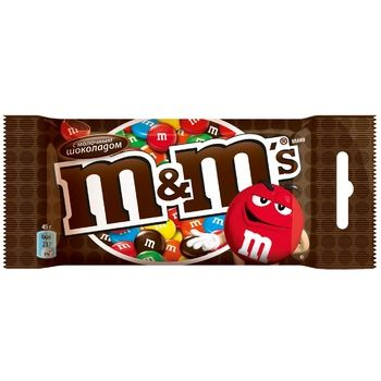 M&M's Сovered With Colored Crispy Glaze Dragee With Milk Chocolate 45g - buy, prices for CityMarket - photo 1