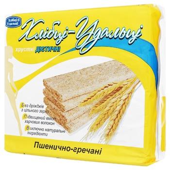 Khlibtsi-Udaltsi dietary wheat-buckwheat crispbread 100g - buy, prices for Auchan - photo 1