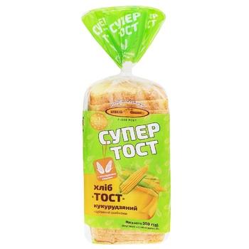Хлеб тостовый Киевхлеб кукурузный нарезанный 350г - купить, цены на СитиМаркет - фото 1