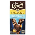 Шоколад молочный СВІТОЧ® Exclusive со вкусом меда и соленой карамелью 100г