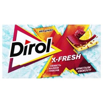 Жувальна гумка Dirol X-Fresh Свіжість малини і лимона 13,5г - купити, ціни на ЕКО Маркет - фото 1